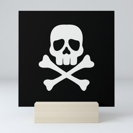 Skull and Cross Bones Mini Art Print