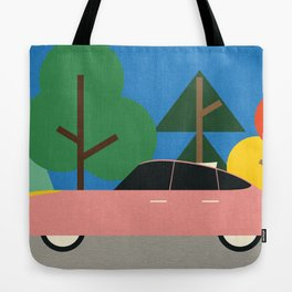 Old School Future Car Tote Bag