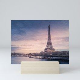 Eiffel Tower Sunset Mini Art Print