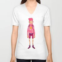 gumball V-neck T-shirts featuring Prince Gumball by FawnLorn