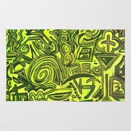 Green symbols Rug