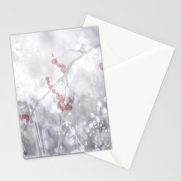 Winter Scene Rowan Berries With Snow And Bokeh #decor #buyart #society6 Stationery Cards