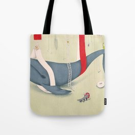 A whale has landed Tote Bag