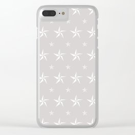 Stella Polaris Light Grey Design Clear iPhone Case