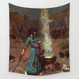 John William Waterhouse - The Magic Circle Wall Tapestry