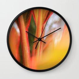 Beautiful Reddish Plant Stem Wall Clock