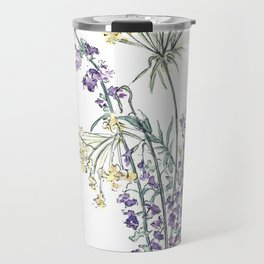Wild Flowers Ink and Watercolor  Travel Mug