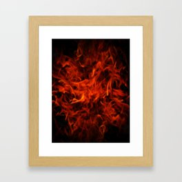 Fractal Flame Framed Art Print