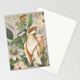 Cockatoos Tropical Jungle World Botanical Illustration Stationery Cards