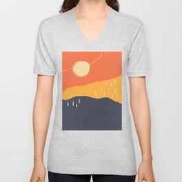 Sunrise Mountain Unisex V-Neck