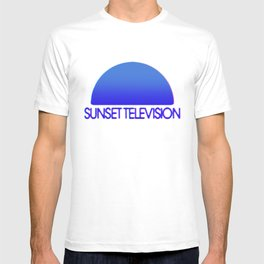 Sunset Television Logo Blue T-shirt