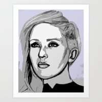 ellie goulding Art Prints featuring Ellie Goulding - pop art by CBDB