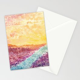 Magical Sunset Watercolor Illustration Stationery Cards