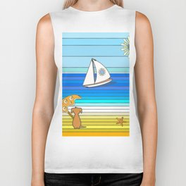 Summertime and the Living is Easy Biker Tank