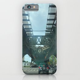 Elevated Train Track In Brooklyn NY iPhone Case