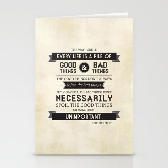 Good Things & Bad Things Stationery Cards
