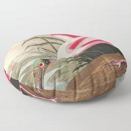 Tropical Exotic Fantasy Bird Landscape Floor Pillow