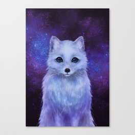 Arctic Fox (color version II.) Canvas Print