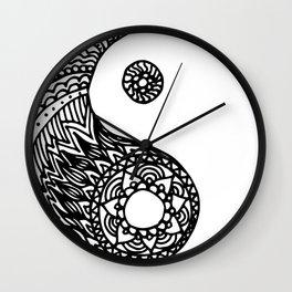 Tangled Yin Yang Wall Clock