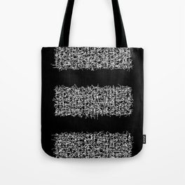 tri black Tote Bag