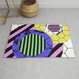 Stripes? Marble? Hex? - Random, eclectic, geometric, abstract design Rug