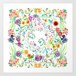 Flowers Appear on Earth - English Art Print