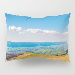 French rolling landscape hill mountain large panorama Pillow Sham