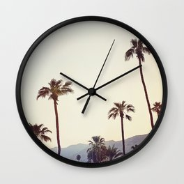 Palm Trees in the Desert Wall Clock