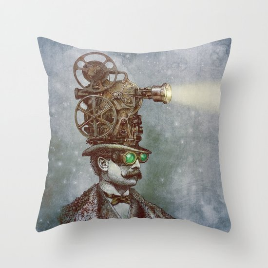 The Projectionist (colour option) Throw Pillow