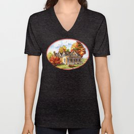 October on the Farm Unisex V-Neck