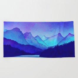 Cerulean Blue Mountains Beach Towel