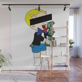 Rich Men liking money [Monopoly] Wall Mural