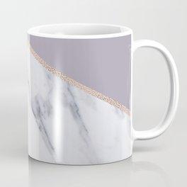 Smokey lilac - rose gold geometric marble Coffee Mug