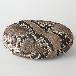 Faux Rock Python Snake Skin Design Floor Pillow
