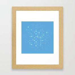 Kingdom Hearts Blue Pattern Framed Art Print