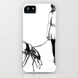 Pets ( and girl and her Beetle ) iPhone Case