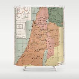 Jerusalem During the Roman Period Palestine Map Shower Curtain