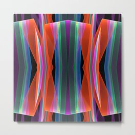 Colourful Ups- and downs abstract Metal Print