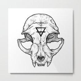Cat Skull II Metal Print