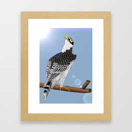 Keep your chin up! Framed Art Print
