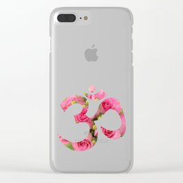 Aum Rose Harmony Om Clear iPhone Case