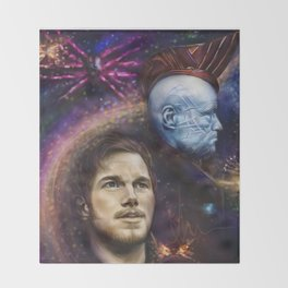 """""""Damn Proud You're My Boy"""" Guardians of the Galaxy Throw Blanket"""
