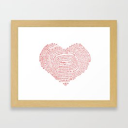 I Love You (Languages of Love Heart) Framed Art Print