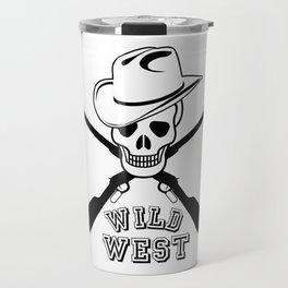 Skull and rifles Travel Mug