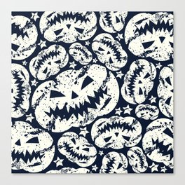 Happy Halloween  pumpkin pattern Canvas Print