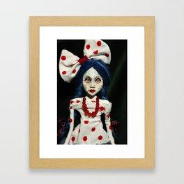 art doll, dots, blue hair Framed Art Print
