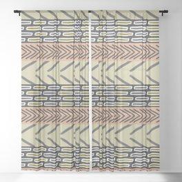 Bricks and sticks Sheer Curtain