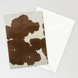 Dark Brown & White Cow Hide Stationery Cards