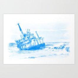 shipwreck aqrewb Art Print