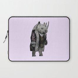 Animals in Suits - Black Rhino Laptop Sleeve